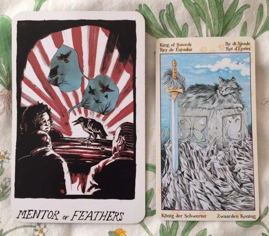 Mentor of Feathers / King of Swords