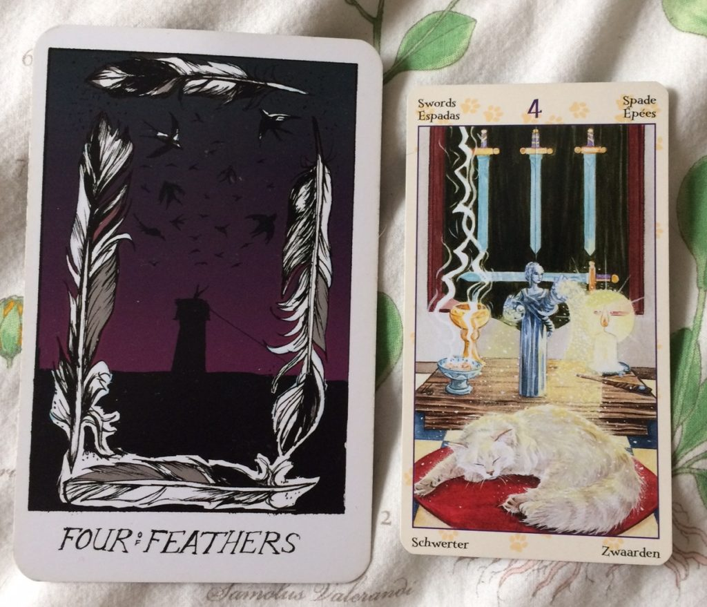 Four of Feathers / Swords