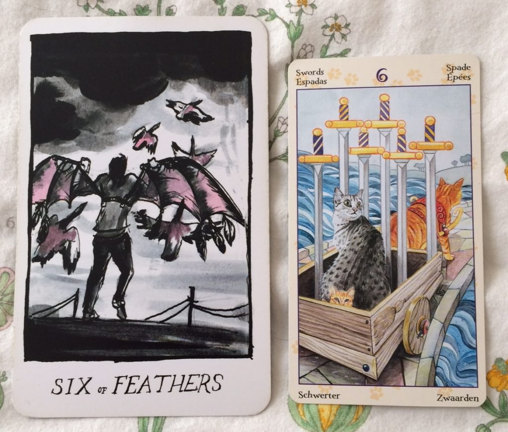 Six of Feathers / Swords