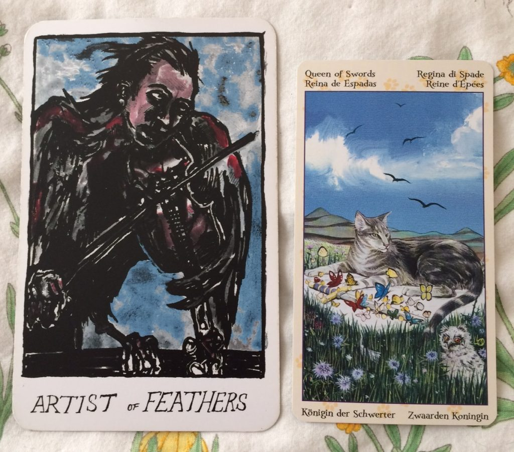 Artist of Feathers / Queen of Swords